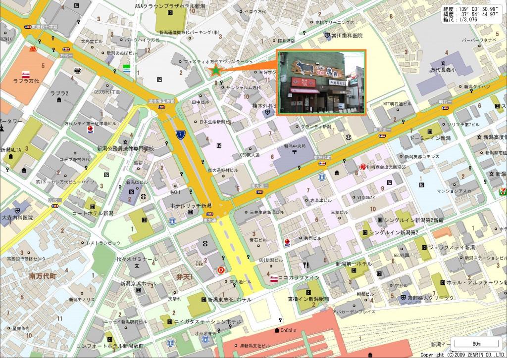 こちらが駅からの地図です